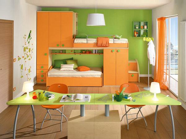Decije sobe po meri projektovanje i izrada decijih soba po meri enterijer lazic - Camerette verde mela ...